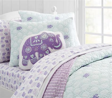 elephant bedding stella elephant quilted bedding pottery barn kids