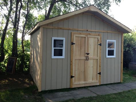 gable style storage shed   double doors side