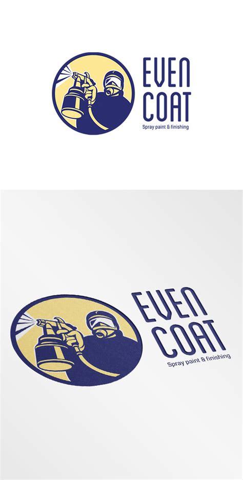spray painter logo even coat spray paint logo logo templates on creative market