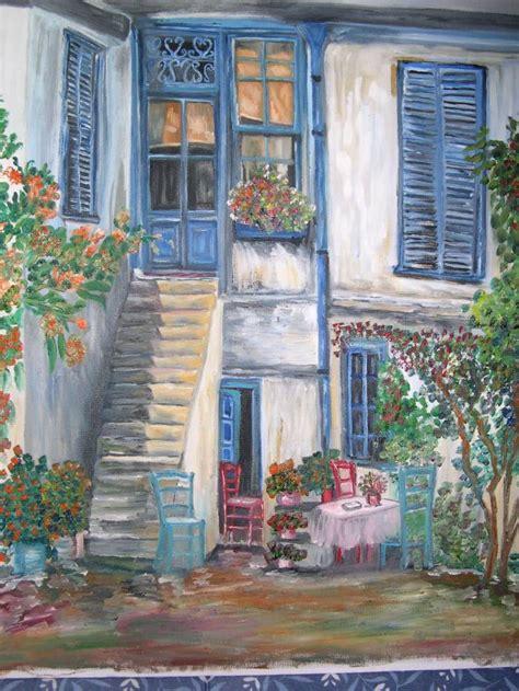 pinturas de patios andaluces adelfa patio andaluz mayka luengo jimenez artelista