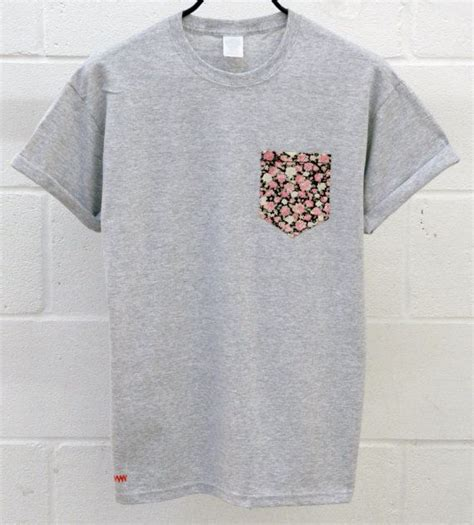 t shirt with pocket template s floral pattern grey pocket t shirt s t shirt