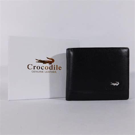 Dompet Pria Kulit Asli Crocodile 1201 12 Black Tidur Import Branded dompet cowok pria kulit asli branded crocodile 1201 12 hitam shopee indonesia