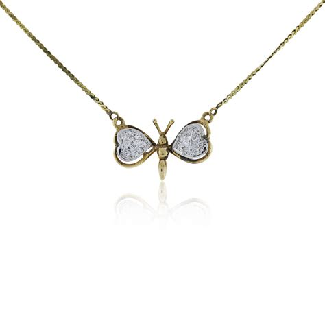 jewelry necklaces 14k yellow gold and butterfly pendant necklace