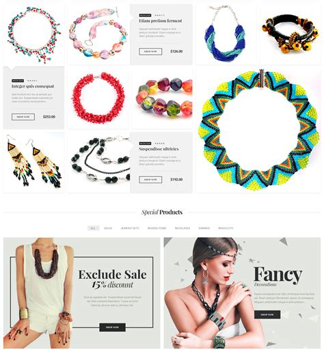 Bejouette Handmade Jewelry Designer Wordpress Theme Modern Web Templates Handcrafted Jewelry Website Templates