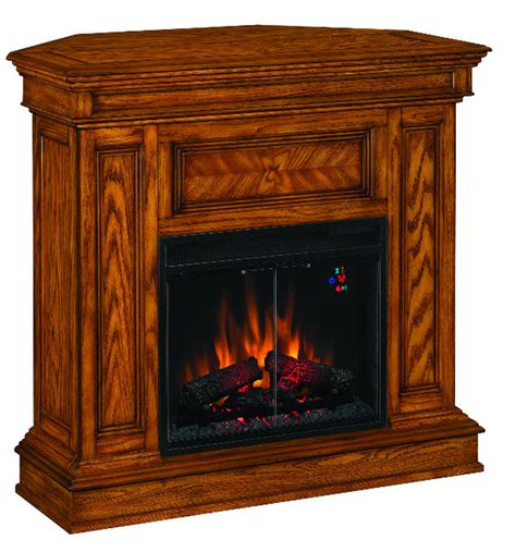 oak corner fireplace electric fireplaces from portablefireplace