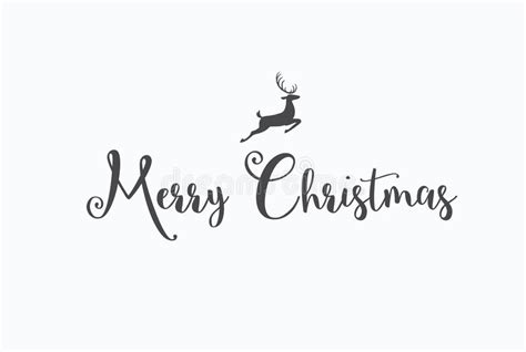 merry christmas lettering typography handwriting text design wi stock vector illustration
