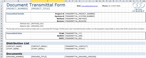 transmittal document template document transmittal form