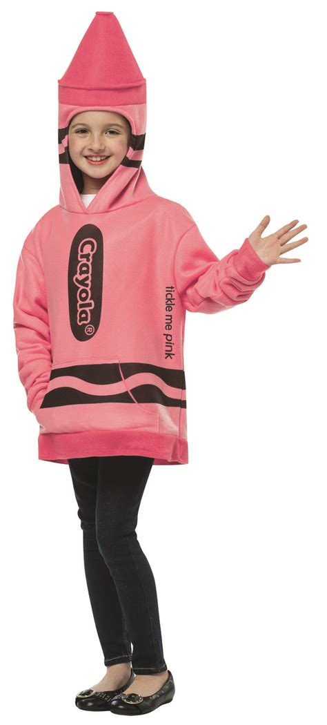 ufosuit costume hoody pink 16027 710 hoodie 7 10 crayola crayon pink crayola