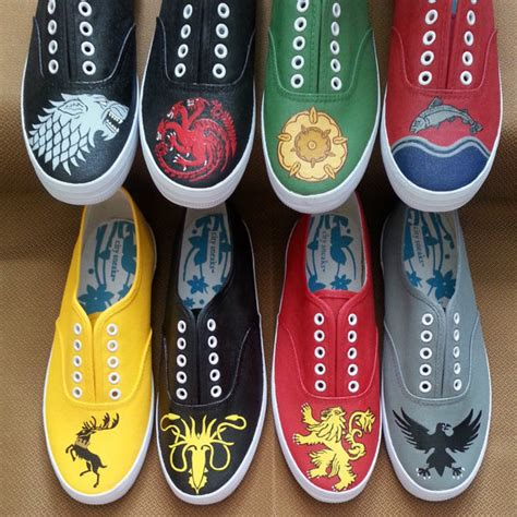 of thrones slippers of thrones house sigil shoes