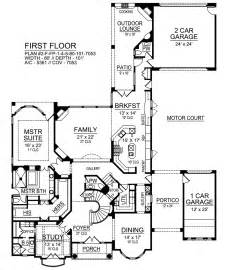 house plans with portico azalea 9450 4 bedrooms and 5 baths the house designers
