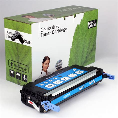 Toner Q6471a dakota ink and toner 187 hp compatible cyan toner q6471a
