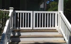 Patio Fencing For Pets Gate Kits For Vinyl Deck And Porch Railing