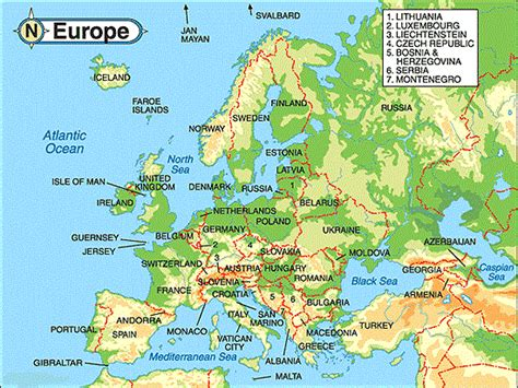 geography of europe map europe 7 continents 1 globe
