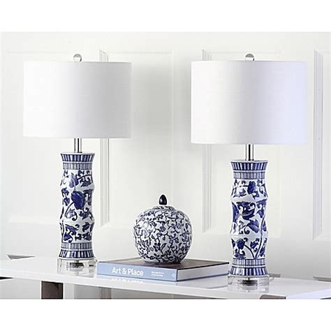bed bath and beyond sandy utah safavieh sandy table ls in white blue set of 2