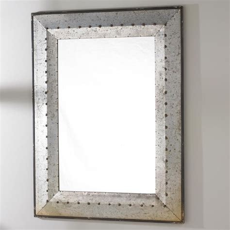 Metal Industrial Rivet Mirror Industrial Industrial Bathroom Mirrors