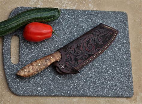 custom c chefs knife maple