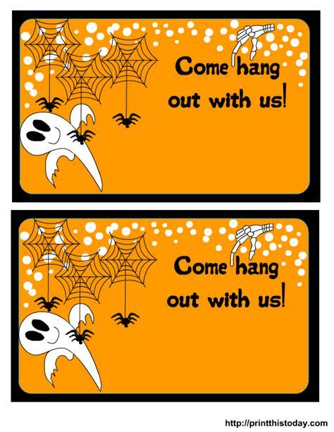 free printable halloween postcard invitations printable halloween party invitations theruntime com