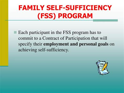 section 8 family self sufficiency program ppt housing choice voucher section 8 participant
