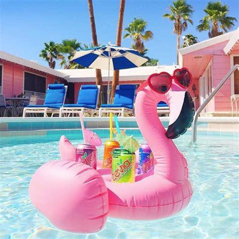 Flamingo Drink Holder Coaster Pink pink flamingo 4 drink cup holder coaster float we float bali