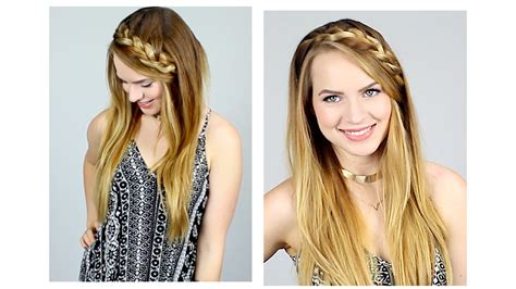hairstyles kayley melissa quick braided half up hairstyle for back to school youtube