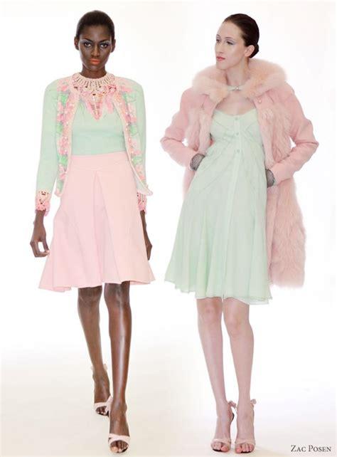 pink colour combination dresses zac posen resort 2011 collection wedding inspirasi
