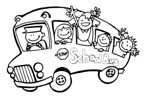 school bus coloring pages    print