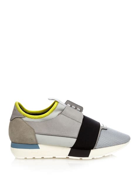 balenciaga s sneakers lyst balenciaga multi panel low top sneakers in gray
