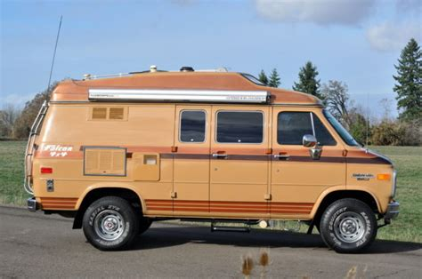 chevy motorhome 1989 chevrolet g20 falcon intervec 4x4 motorhome cer