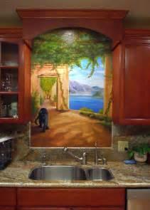 murals mediterranean kitchen pics photos kitchen wall border on wall murals by