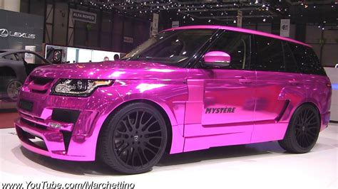land rover pink chrome pink hamann range rover mystere