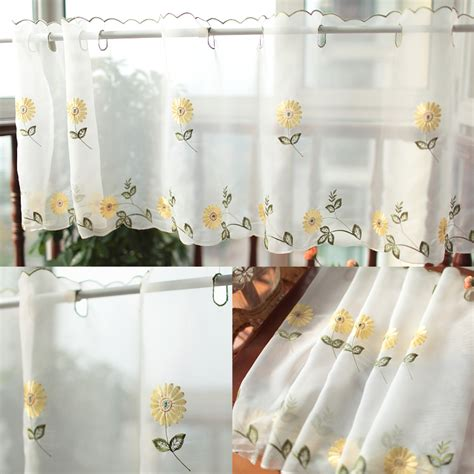 coffee kitchen curtains aliexpress com buy daisy fresh semi shade coffee curtain