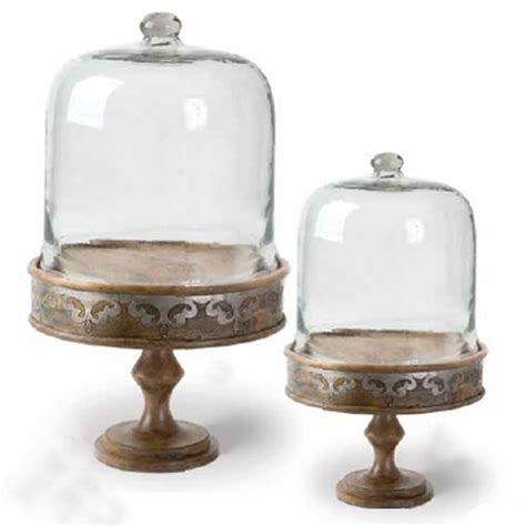 Cake Stand With Dome Small gracious goods heritage small wooden cake stand with glass dome