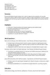 Analyst Resume Objective by Resume Exle Budget Analyst Resume Sle Finance Lawyer Resume Sle Senior Financial