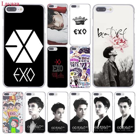 Casing Handphone Kpop Exo lavaza kpop exo lucky one coque shell phone for apple iphone 8 7 6 6s plus x 10 5 5s