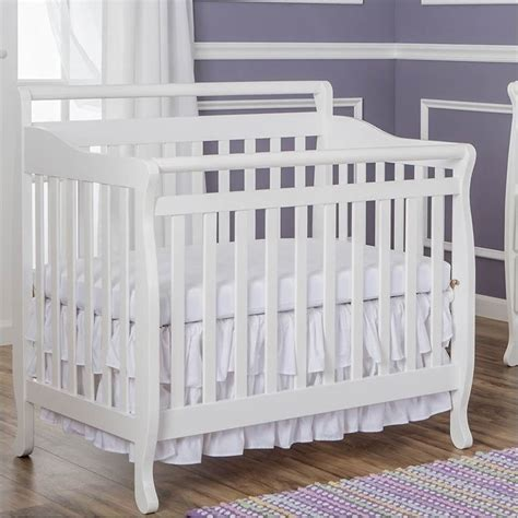 4 In 1 Mini Crib On Me 4 In 1 Mini Convertible Crib In White 626 W