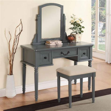 modern vanity makeup make up table dresser w 3 drawers