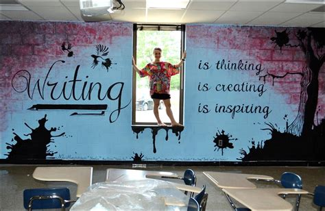 themes for high school english classrooms classroom wall murals mural in the southview high