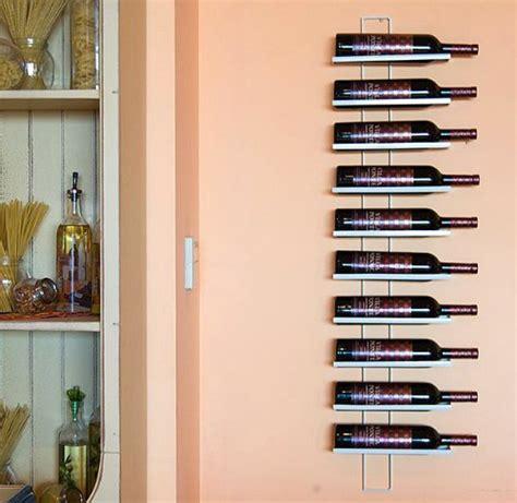 scaffali per vini scaffale vini dies white 116cm in metallo per 10 bottiglie