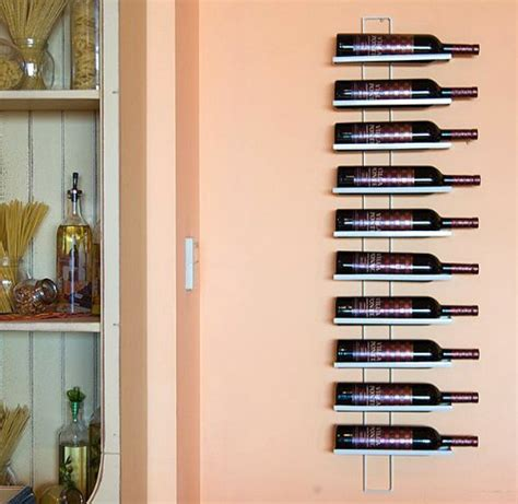 scaffali per bottiglie scaffale vini dies white 116cm in metallo per 10 bottiglie