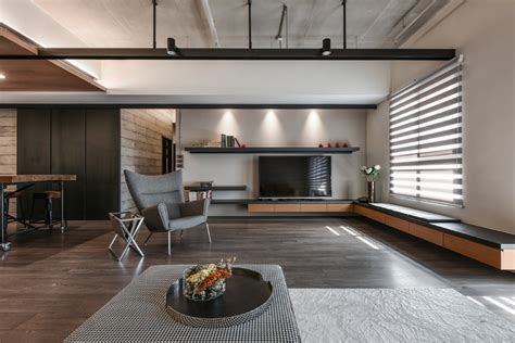 A Palette Of Wood, Metal, And Concrete For This Apartment