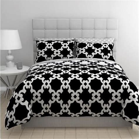 black and white geometric comforter twin teen black white reversible geometric complete