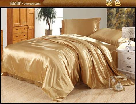 Silk Bedding Sets Camel Silk Bedding Set Satin Sheets Quilt Duvet Cover King Size Bed Spread