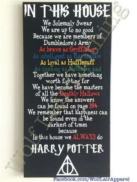 In This Home We in this house we do harry potter canvas made by wolf