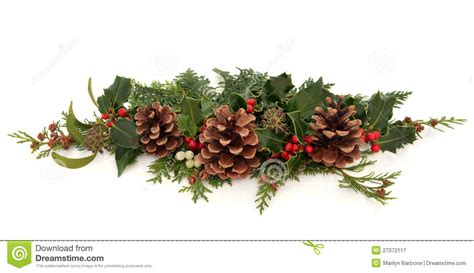 christmas decorative spray stock image image of