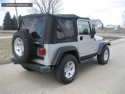 2004 Jeep Wrangler Top 2004 Jeep Wrangler 4 0l 5 Speed A C Soft Top