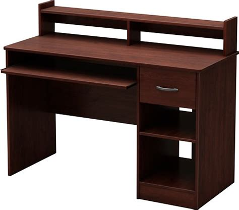 small cherry computer desk south shore axess small computer desk brown 7246076 best buy
