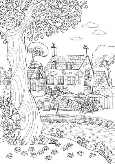 imagenes de paisajes hermosos para colorear dibujos de paisajes para colorear e imprimir j