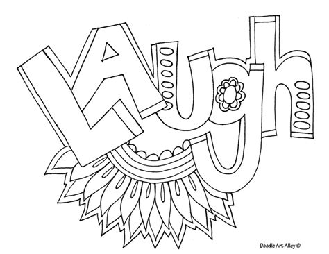 graffiti coloring pages positive words coloring pages
