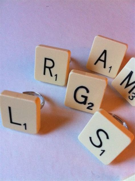 jon scrabble word scrabble tile ring diy and crafts scrabble