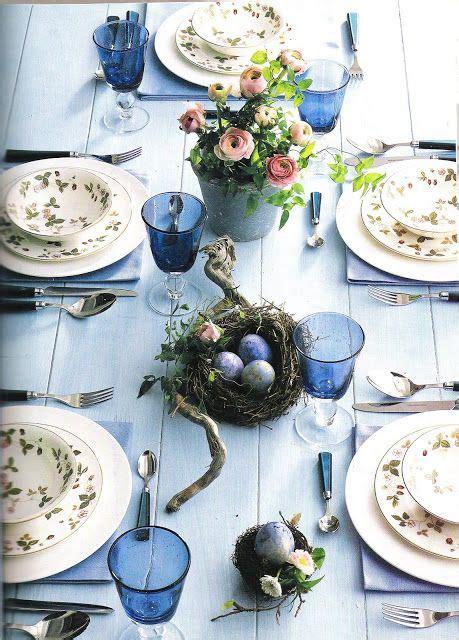 tavola provenzale tavola apparecchiata azzurra stile shabby chic provenzale